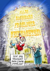 Der Nikolaus - Illustration von Christoph Illigens © Christoph Illigens